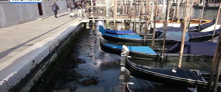 Kanały w Wenecji prawie wyschły. Poziom wody drastycznie spadł