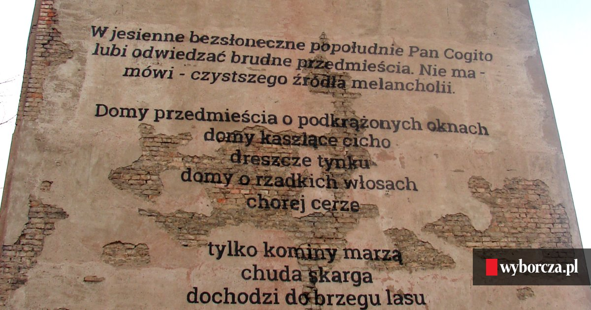 Murale Z Poezją W Poznaniu Różewicz Szymborska Herbert