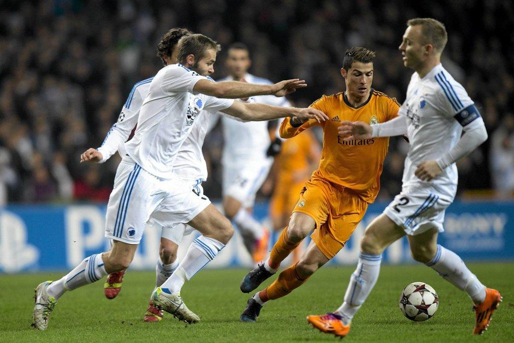 Cristiano Ronaldo w meczu Realu Madryt z FC Kopenhaga