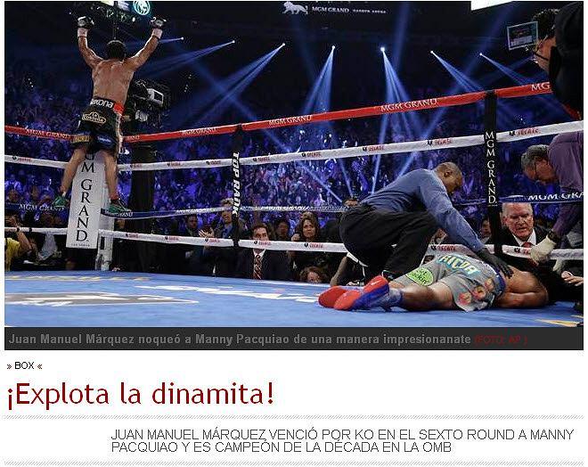 Screen z portalu dziennika 'El Universal'