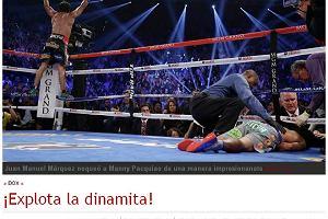 Boks. Światowe media o walce Marqueza z Pacquiao: Koniec legendy?