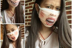 Śmieszne maski przeciw koronawirusowi