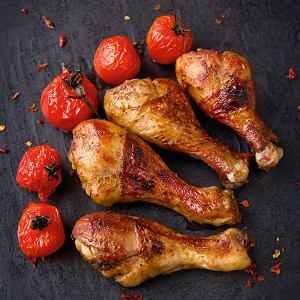 Udka po diabelsku grillowane z pomidorkami