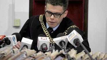 Sędzia Igor Tuleya podczas ogłaszania wyroku ws. dr. Mirosława G.