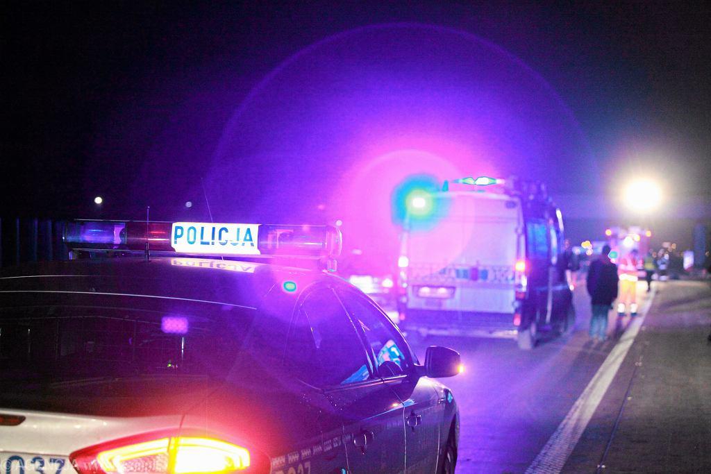 Wypadek na autostradzie (zdjęcie ilustracyjne)