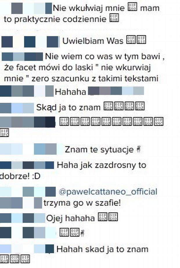 Komentarze na profilu Eweliny Warsaw Shore