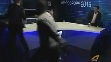 Bójka w gruzińskiej telewizji