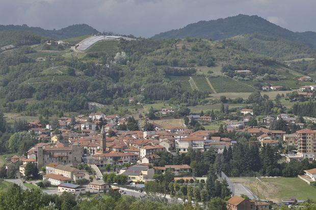 Widok miasteczka Bormida