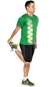 ćwiczenia, Ćwiczenia: rozgrzewka idealna, Rozciągnij mięsień czworogłowy uda