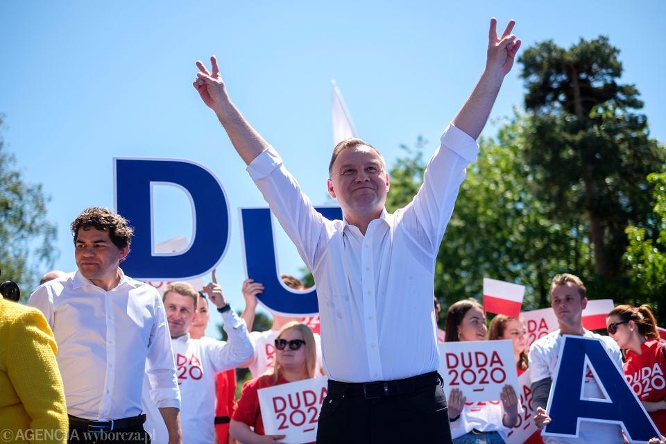 6.06.2020, Andrzej Duda na pikniku wyborczym w Stalowej Woli