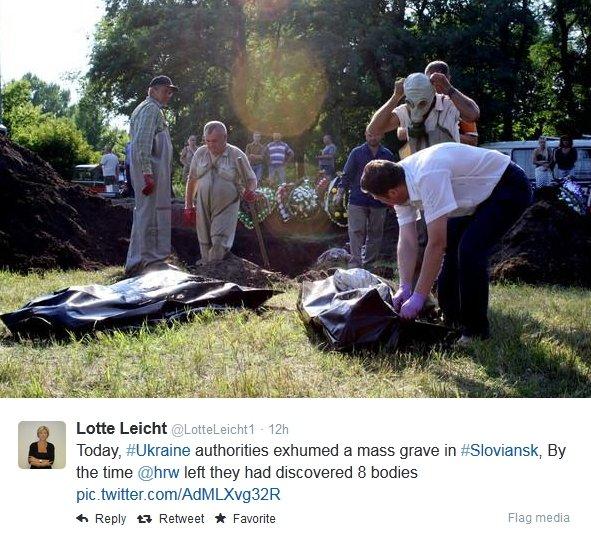 Ekshumacja w Słowiańsku