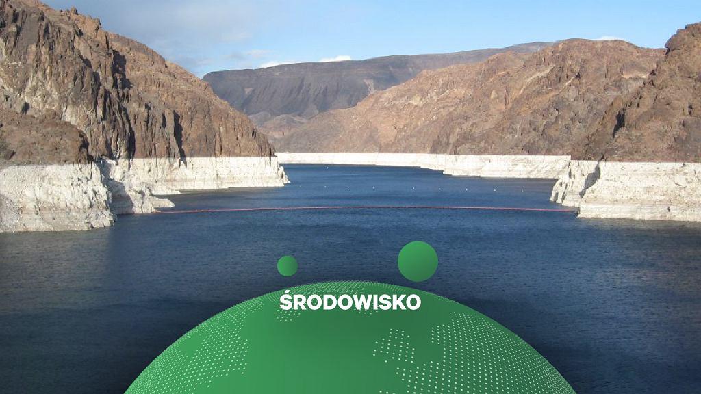 USA. Wysycha największe sztuczne jezioro. 'Potrzeba boskiej interwencji'. Na zdjęciu jezioro Mead
