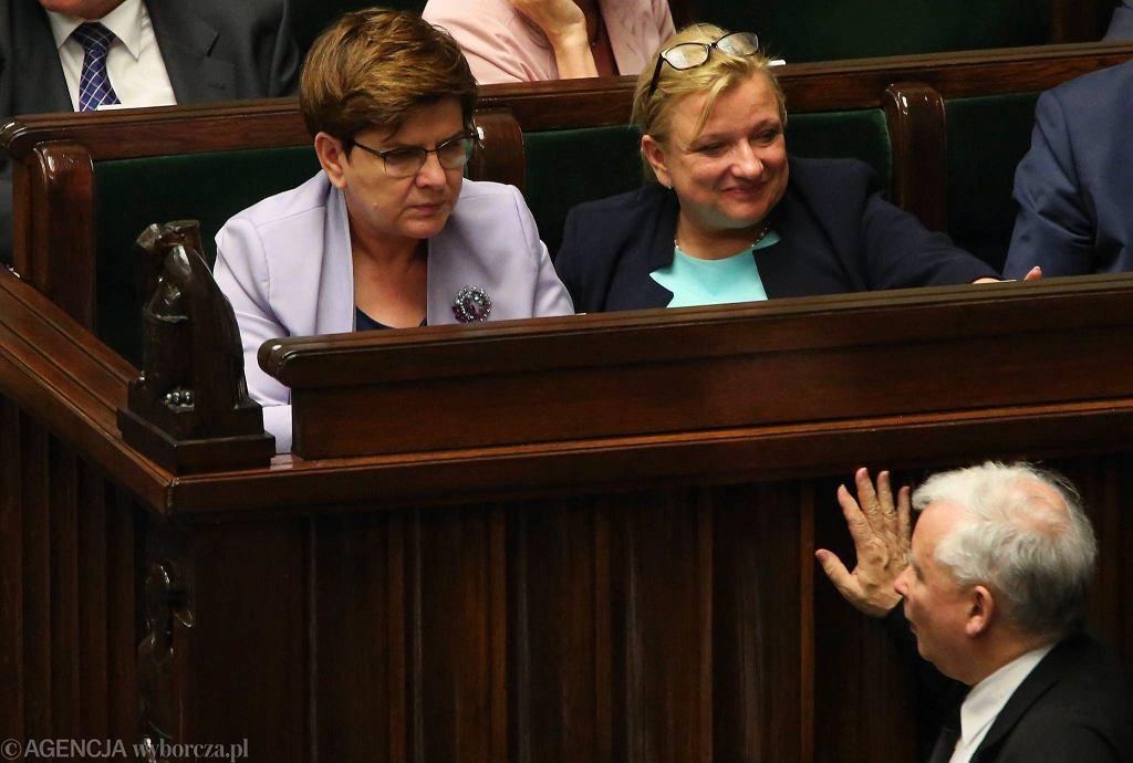 Beata Szydło, Beata Kempa i Jarosław Kaczyński