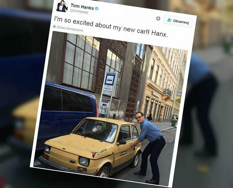 Zdjęcie numer 1 w galerii - Tom Hanks znów to zrobił! Aktor udowadnia, że naprawdę jest fanem polskiej motoryzacji