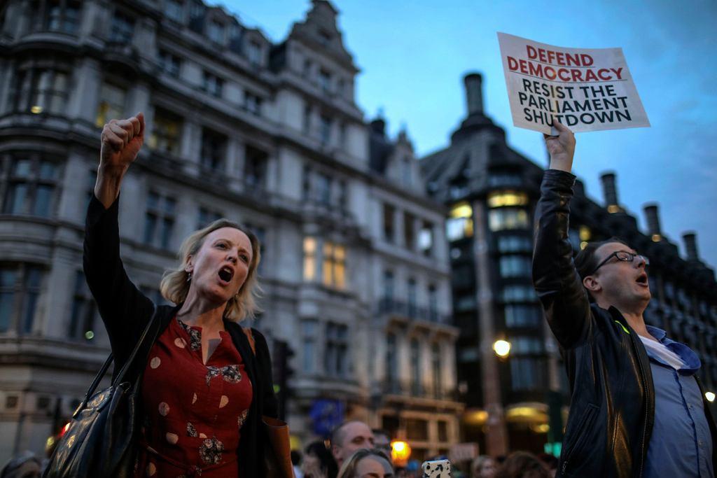 Protesty w Wielkiej Brytanii (zdjęcie ilustracyjne)