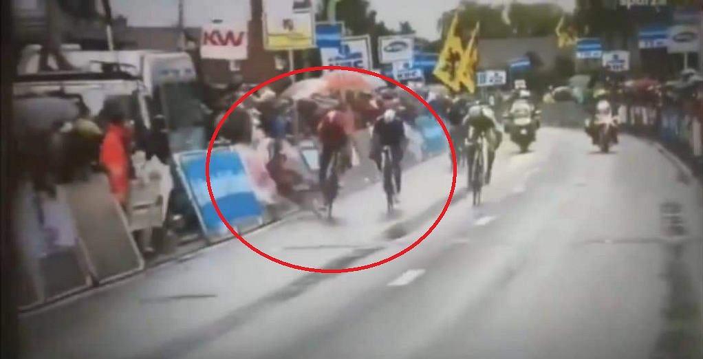 Dylan Groenwegen uoada podczas wyścigu Kaampioenschap van Vlaanderen w 2015 roku