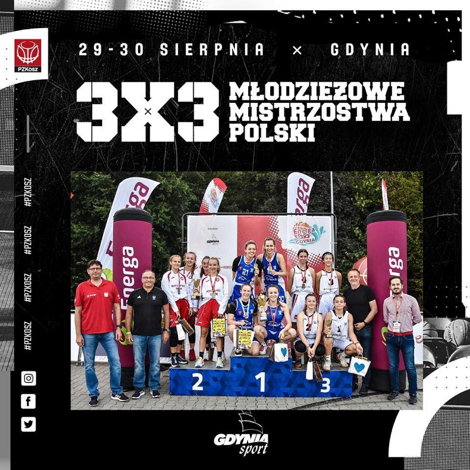 Młodzieżowe mistrzostwa Polski 3x3 w Gdyni. Podium w kategorii U17 kobiet