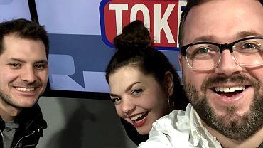 Robert Kapkowski i Natalia Kwiatkowska z zespołu Cheap Tobacco oraz Kamil Wróblewski