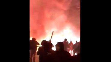 Kibole Ajaksu zaatakowali budynek klubowy AEK