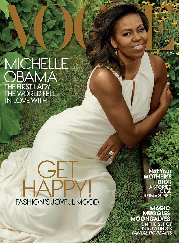 Michelle Obama na pożegnalnej okładce Vogue'a, grudzień 2016