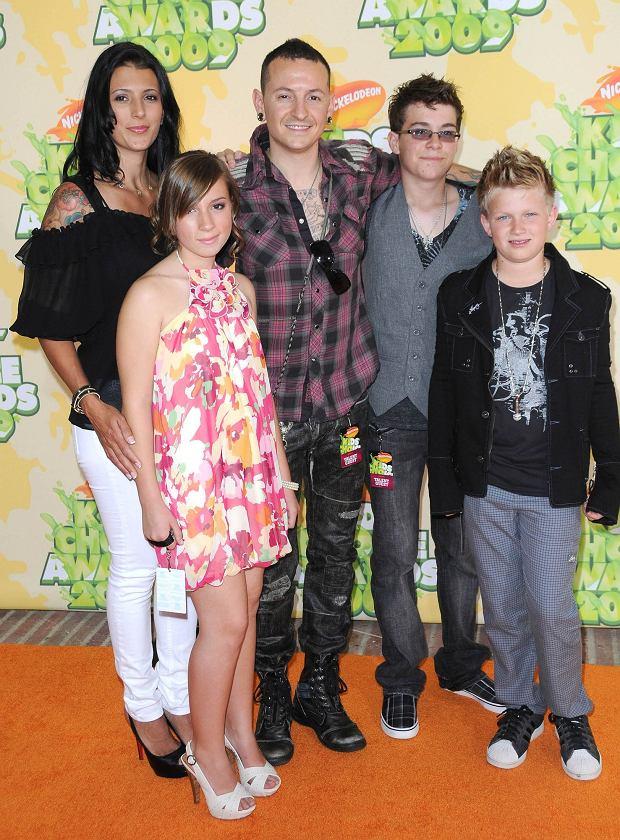 Chester Bennington z rodziną w 2009 roku