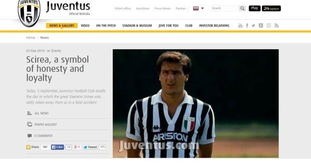 Juventus pamięta o Gaetano Scirei