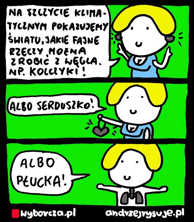 Andrzej Rysuje   SZCZYT KLIMATYCZNY - Andrzej Rysuje, 4.12.2018 -
