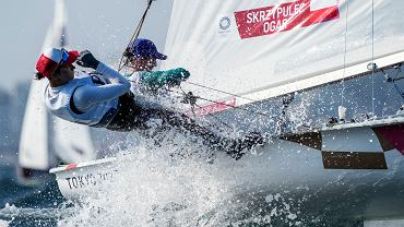 Agnieszka Skrzypulec i Jolanta Ogar-Hill podczas rywalizacji olimpijskiej w Tokio