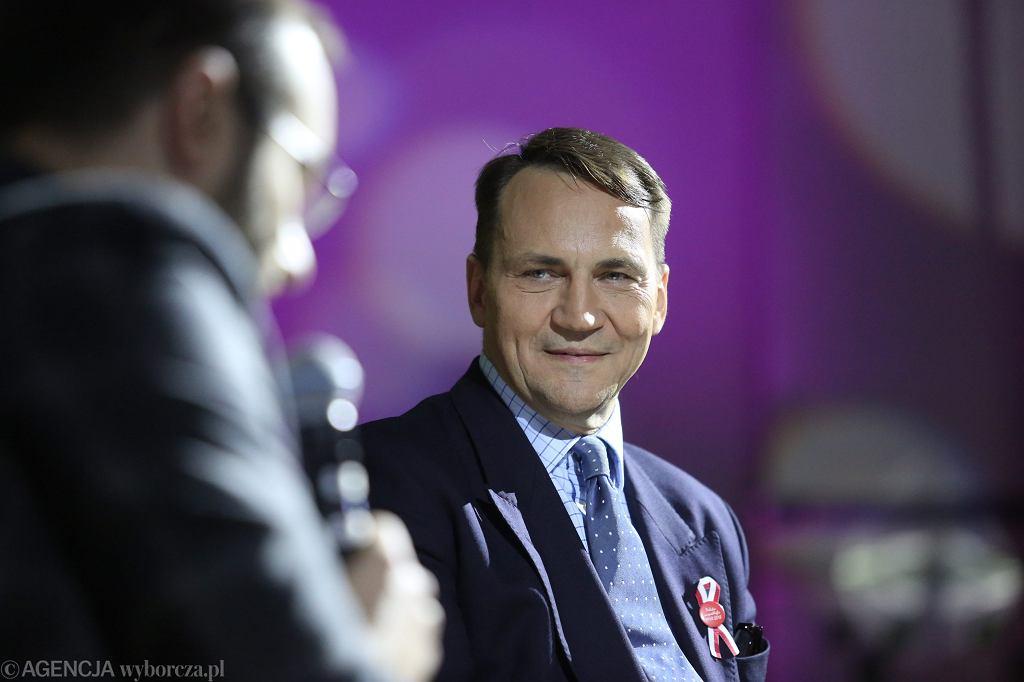 Radosław Sikorski podczas 'Igrzysk Wolności'. Łódź, 11 listopada 2018