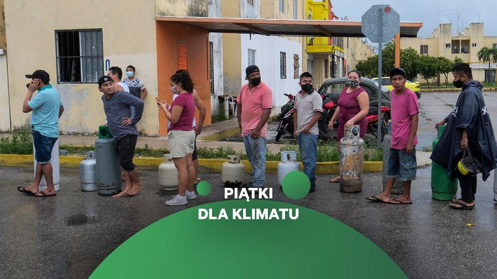 Mieszkańcy półwyspu Jukatan szykują się na nadejście huraganu Delta w czasie pandemii
