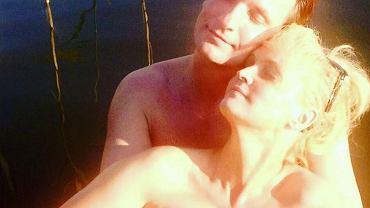 Adrianna Biedrzyńska z mężem