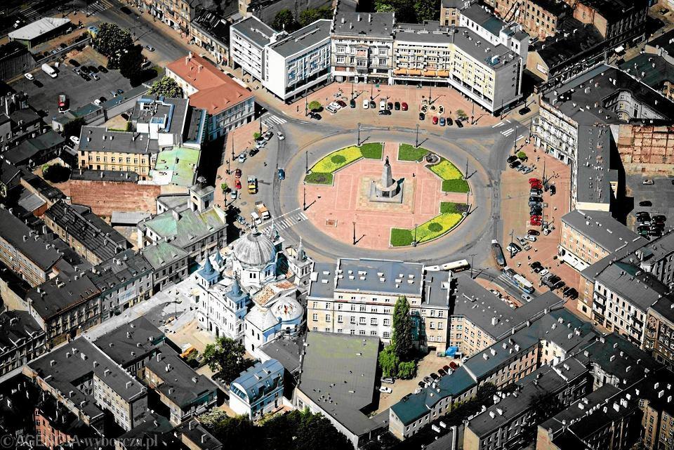 Łódź, widok na plac Wolności
