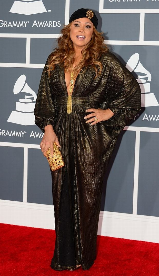 Nominee for Best R&B Song and Best R&B Album Tamia arrives at the Staples Center for the 55th Grammy Awards in Los Angeles, California, February 10, 2013. AFP PHOTO Frederic J. BROWN