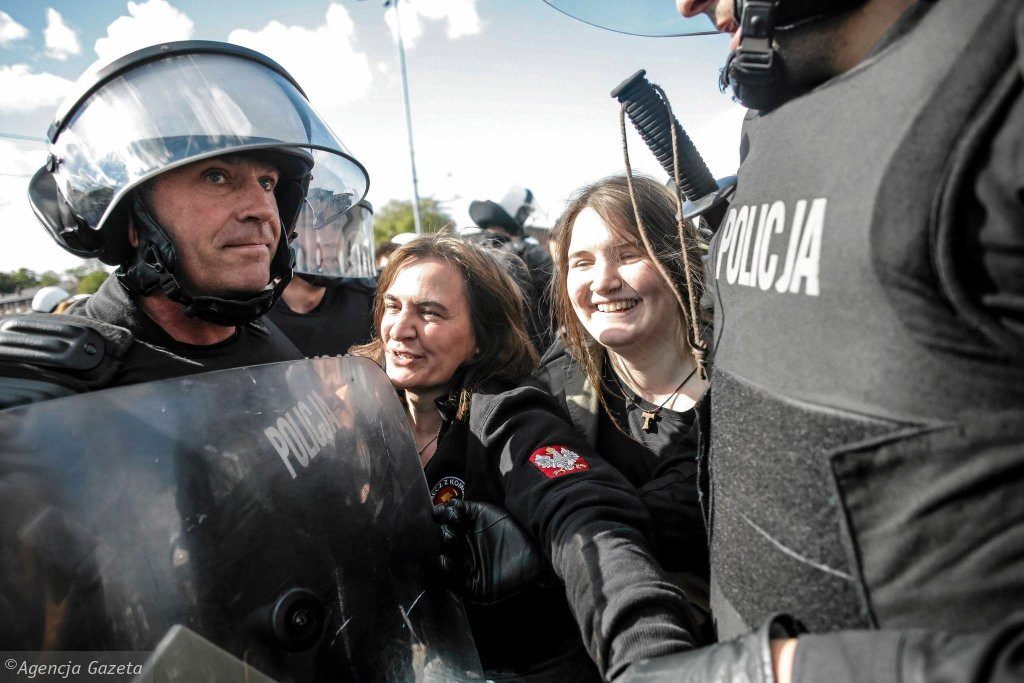 Anna Kołakowska z córką w trakcie Trójmiejskiego Marszu Równości - interwencja policji