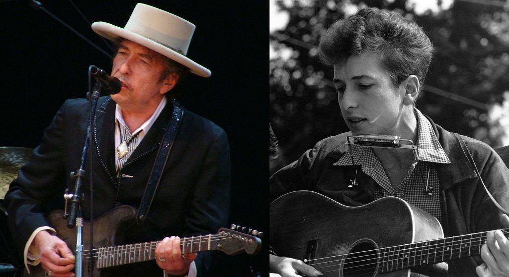 Bob Dylan w 2010 i 1963 roku