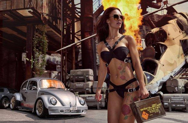 Kalendarze 2016   Miss Tuning   Ogień i wybuchy