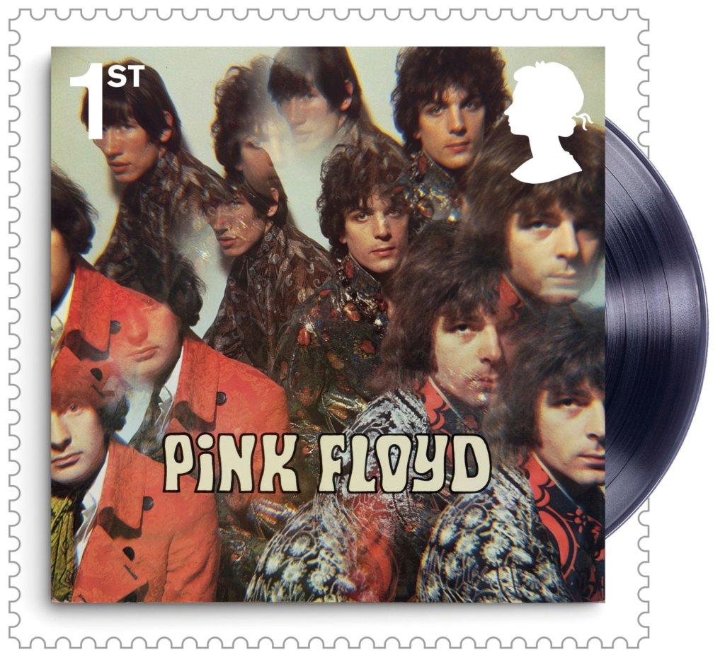 Znaczek pocztowy z okładką płyty ''The Piper at the Gates of Dawn'' Pink Floyd