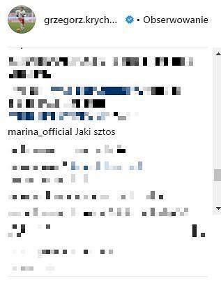 Marina komentuje zdjęcie Grzegorza Krychowiaka