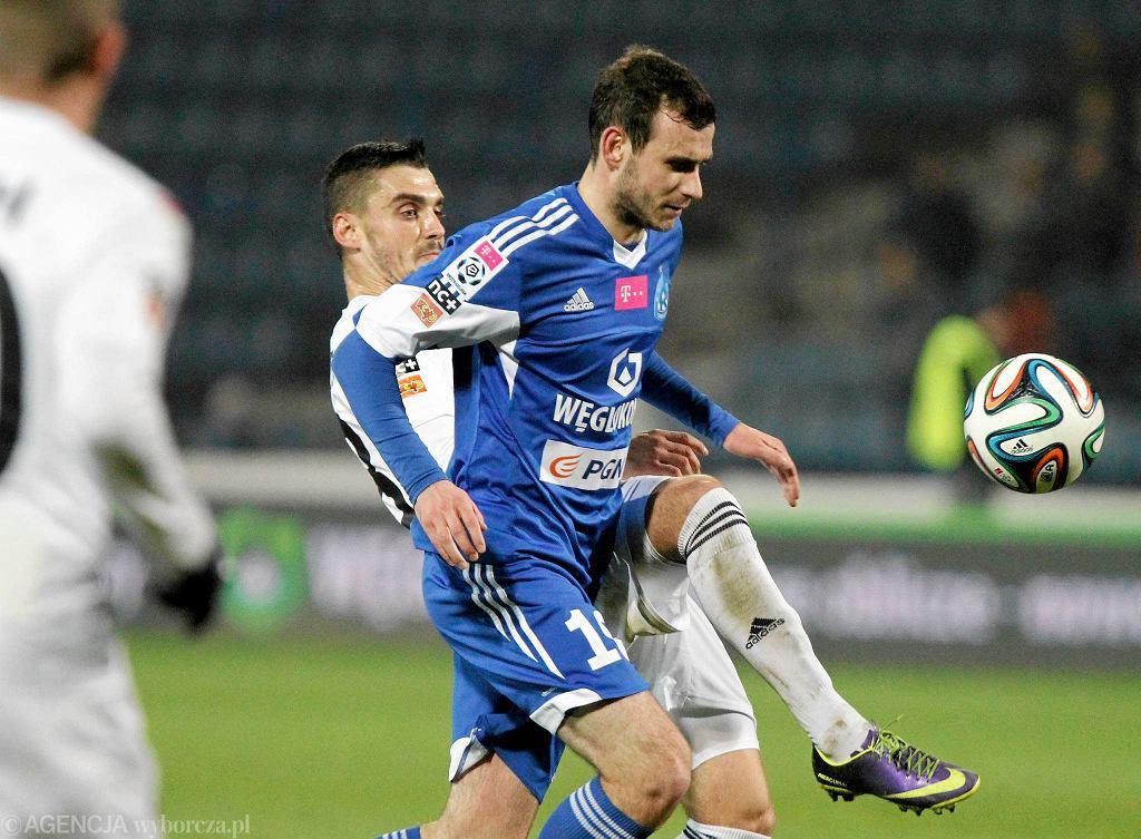 Filip Starzyński w ligowym meczu ze Śląskiem Wrocław