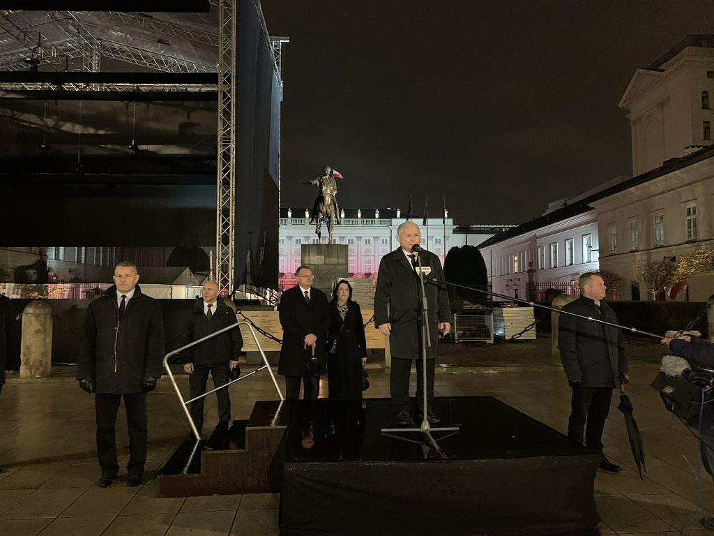 Jarosław Kaczyński podczas Marszu Pamięci w Warszawie/Fot. PiS_Twitter