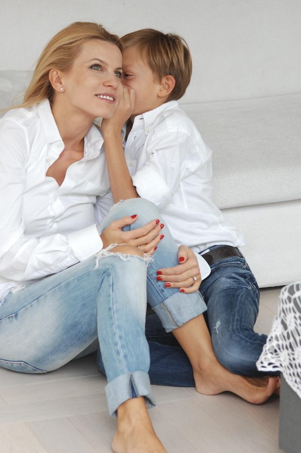 Magda Szymanowska z synem