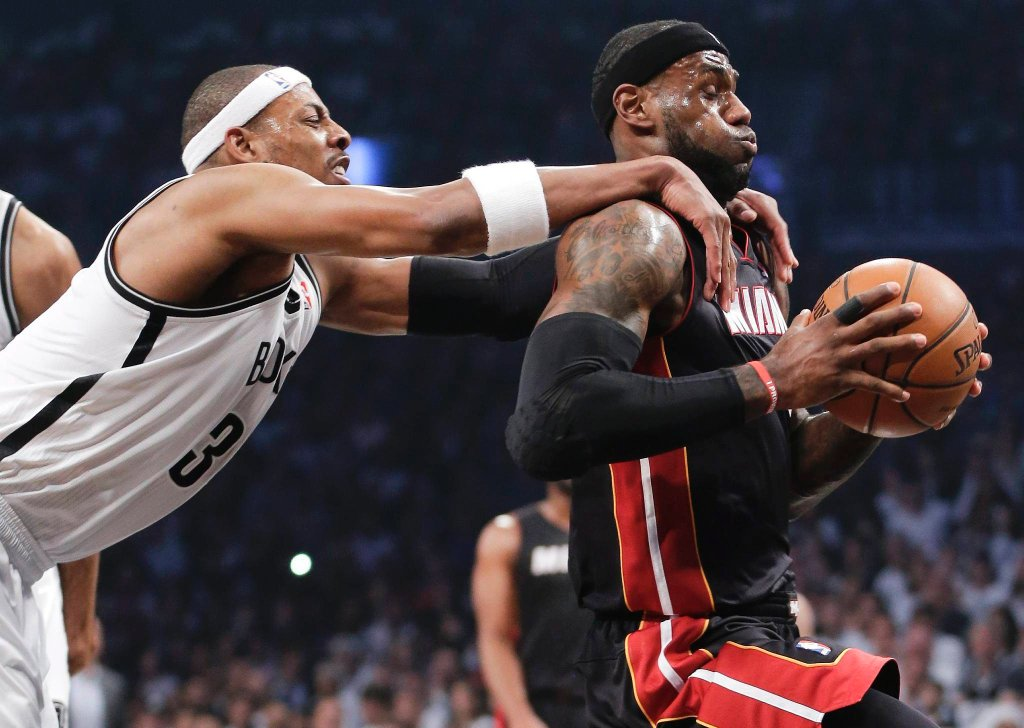 Paul Pierce i LeBron James