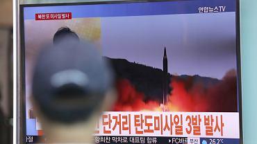 Reżim Kim Dzong Una odpalił trzy pociski balistyczne krótkiego zasięgu o czym informowała południowokoreańska TV