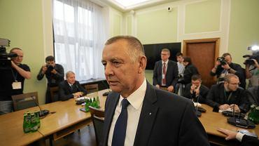 27.11.2019, prezes NIK Marian Banaś przed Sejmową Komisją ds. Kontroli Państwowej.