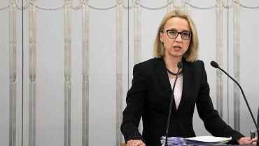 Minister Finansów Teresa Czerwińska podczas debaty budżetowej. Warszawa, 17 stycznia 2018