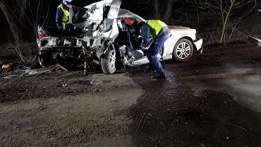 Wypadek na drodze między miejscowościami Wioska i Gnin w powiecie grodziskim