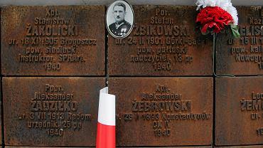 Tablice ku czci pomordowanych na Polskim Cmentarzu Wojskowym w Katyniu.