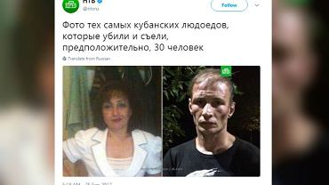 Rosyjska para jest podejrzewana o zjedzenie 30 osób.
