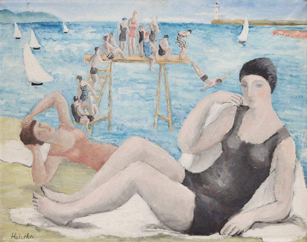 Alicja Halicka, 'Na plaży', ok. 1920, olej na płótnie, kolekcja Marka Roeflera / Villa la Fleur, Konstancin Jeziorna