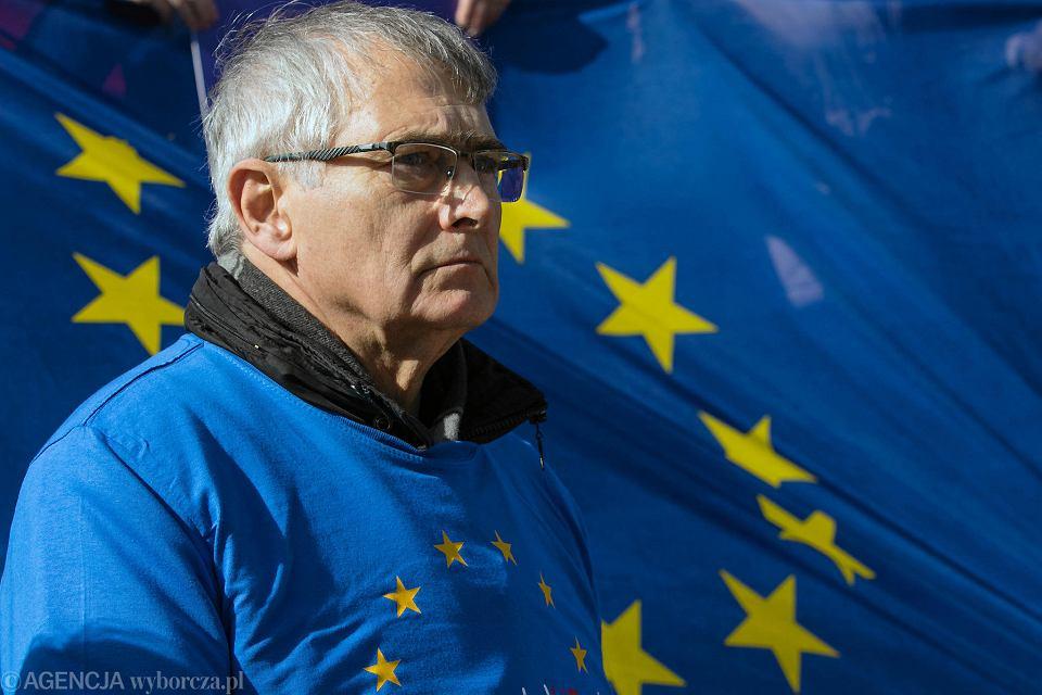 Prezentacja kandydatów partii Wiosna w eurowyborach - na zdjęciu Olgierd Łukaszewicz